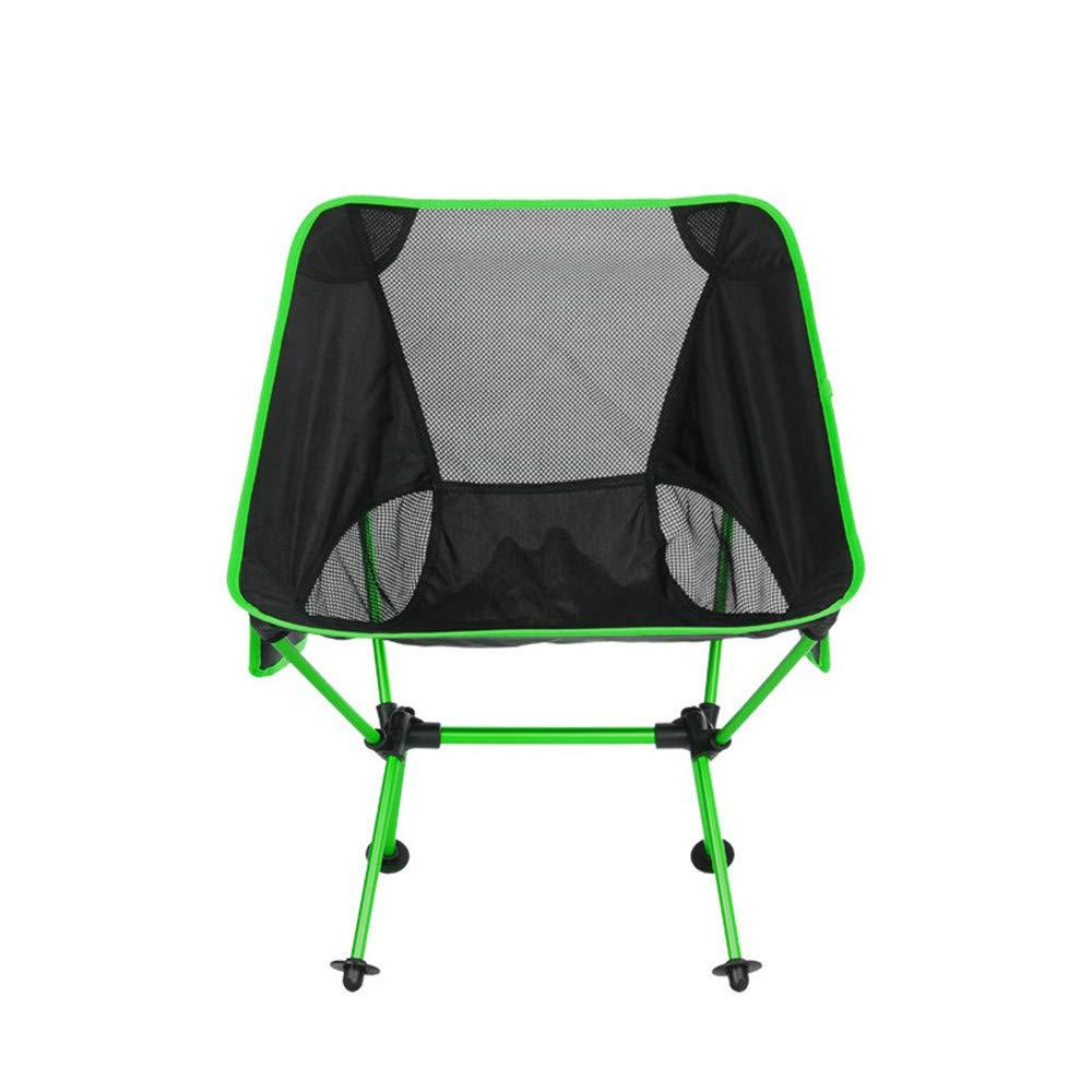 Tragbare Camping Stuhl Ultra Light Gartenstuhl Camping Stuhl Klapp Angeln Stuhl Gartenstuhl Mit Tragetasche Für Outdoor-aktivitäten, Camping Wanderer, Camp, Strand, im Freien ( Farbe : Grün )