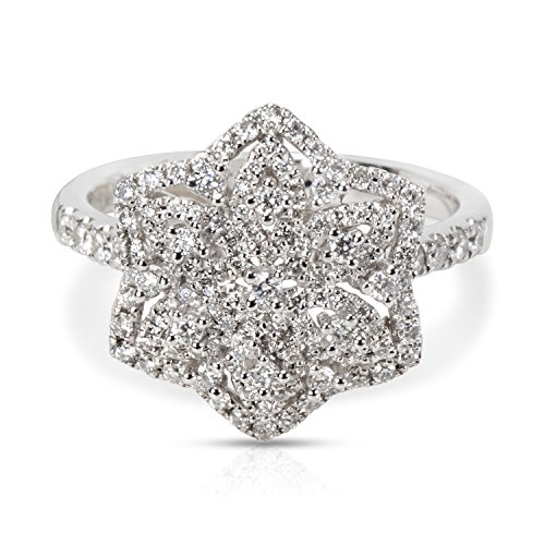 Diamond Flower Cluster Ring in 18KT White Gold (18kt Diamond Flower)