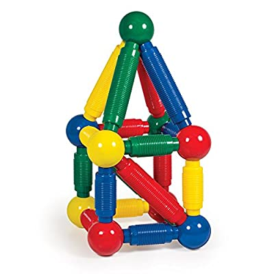 Guidecraft Better Builders 60 - Piece Magnetic Ball and Rod Construction Set, Stem Educational Building Toy: Toys & Games