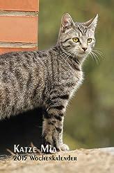 Katze Mia - 2015 Wochenkalender: rechte Seite Kalender, linke Seite Notizbuch, 1 Woche = 1 Seite, ca A5