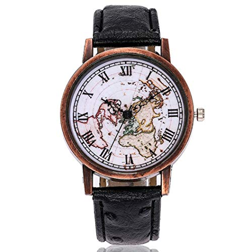 Redvive Women's Casual Bracelet Wrist Watch Leather Band Watch New Strap Watch Analog Wristwatch Quartz Round Dial Watches for Ladies. (Black)