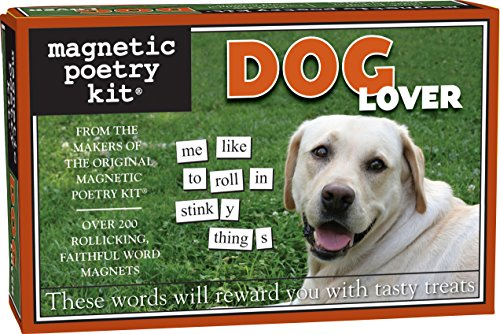 [Magnetic Poetry - Dog Lover Kit - Words for Refrigerator - Write Poems and Letters on the Fridge - Made in the USA] (Dog Magnetic Toy)
