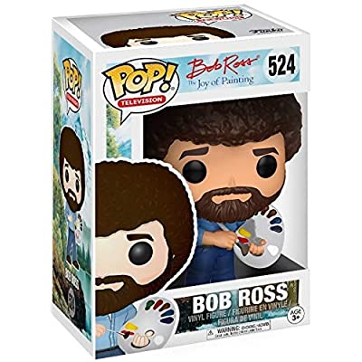 Funko Pop! Television: Bob Ross - The Joy of Painting #524 Vinyl Figure (Bundled with Pop Box Protector Case): Toys & Games