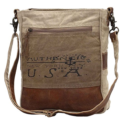 Myra Bags USA Upcycled Canvas Shoulder Bag - Materials Recycled