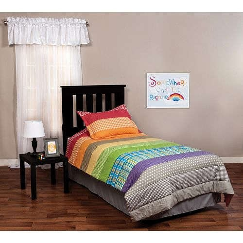 trend-lab-rainbow-connection-2-pc-twin-gingham-polka-dot-striped-plaid-designs-bedding-set-set-inclu