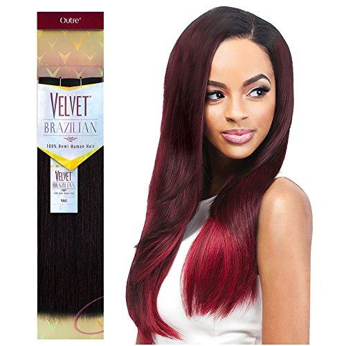 - Outre Remy Human Hair Weave Velvet Brazilian Yaki (10
