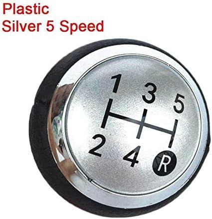 LRFQ 5/6スピードシフトノブキャップカバーレバースティックペンのためにトヨタカローラ1.8MT 2007年から2013年/アベンシスYARIS D4D URBAN CRUISER RAV4 ALTIS (Color Name : Plastic Silver 5)