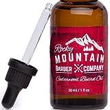 Rocky Mountain Beard Oil - 100% Natural - Premium, Cold-Pressed 9 Oil Blend with Cedarwood Scent, Nutrient Rich Eucalyptus, Jojoba, Tea Tree, Coconut Oil