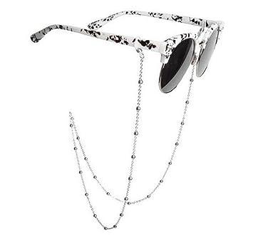 echo-ove Gafas de sol de acero inoxidable con cadena para gafas, correa para