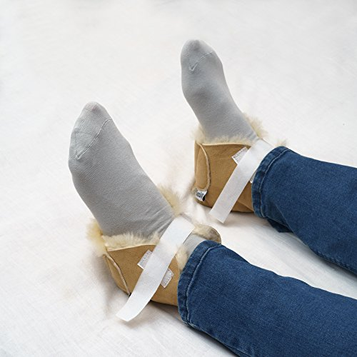 Kenley Heel and Foot Protectors - Sold Individually - Protect Feet, Heels & Elbows from Ulcers, Bed & Pressure Sores - Pain & Injuries Relief Pillows - 100% Genuine Lambskin Cushions Pads by Kenley (Image #3)