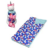 American kids Huggable Slumber Animal Character White Unicorn Blue Blanket toy
