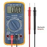 D-FantiX Handheld Digital Multimeter AC DC Am Ohm Volt Meter with Diode Continuity, Transistor, hFE Tester (DT 5802)