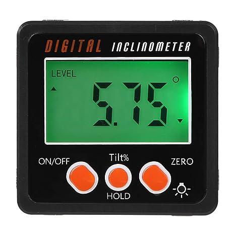 Digital Inclinometer Level Box Protractors Gauge Angle Finder Meter Magnet Bevel