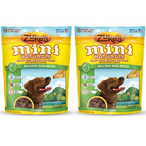 Zuke's Mini Naturals Dog Treats (6 oz.) - Delicious Duck Recipe (2 Pack)