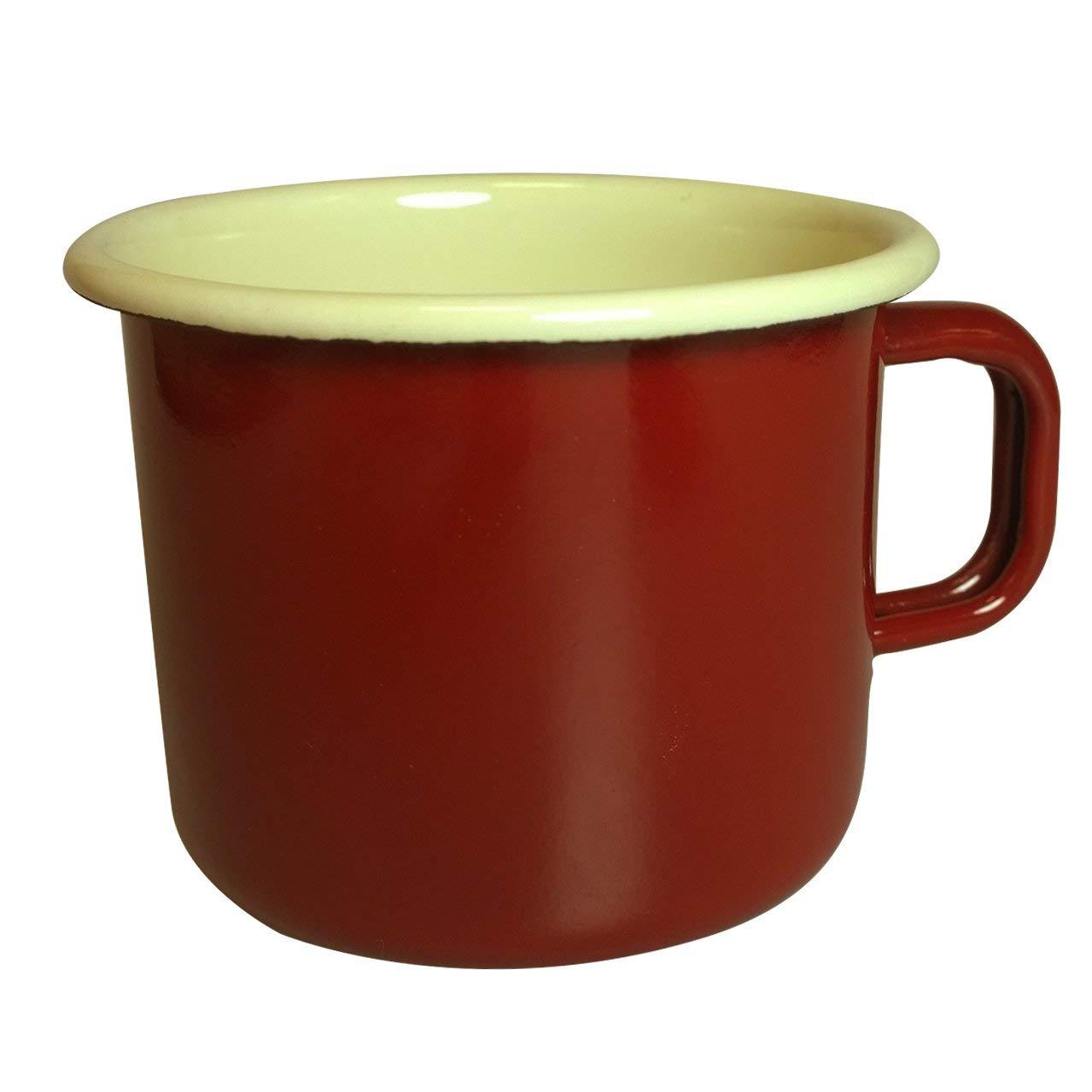 Dexam 17819189 Vintage Home 450ml Enamelware Mug, Claret Red