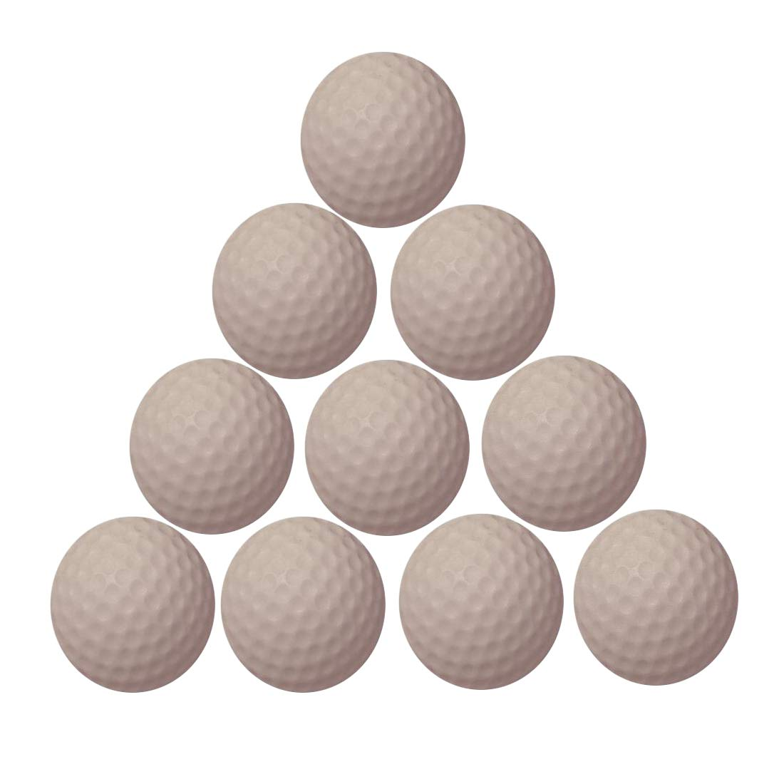 WYF 練習用ゴルフボール ソフトディンプル伸縮性 屋内屋外トレーニング ソフトフォームゴルフボール 10個  ホワイト B07MKV3932