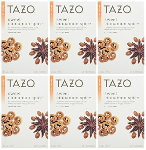 Spice Natural Herbal Tea (Tazo Sweet Cinnamon Spice Herbal Tea 20 Bags (Pack of 2))