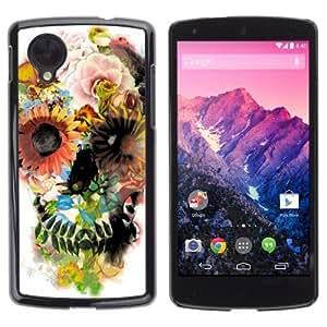 YOYOSHOP [Colorful Flowers] LG Google Nexus 5 Case