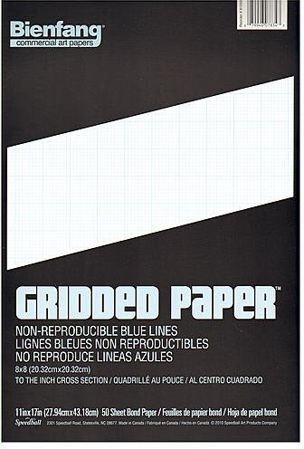 Bienfang Gridded Paper (8 x 8) - 11 In. x 17 In. 1 pcs sku# 1829657MA by Bienfang