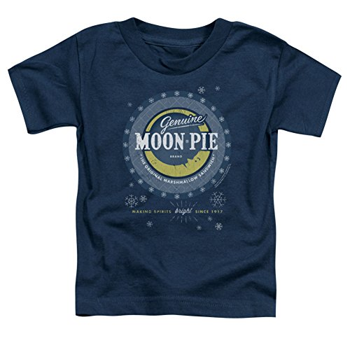 Toddler: Moon Pie- Snowflake Logo Button Baby T-Shirt Size 4T Button Moon T-shirt