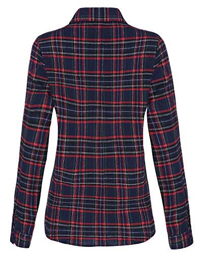 Eleganti Da Stile Coreana Collo Modern Vintage Casuale Moda Donna Camicia Lunga Autunno Primaverile Tasche Boscaiolo Camicetta Manica Grazioso Con Bianca Festiva Tops 6txOqUw8U