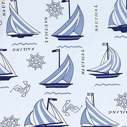 Fabric African| 250x160cm 100% Cotton Twill Cloth Marine Style red Blue Yacht Anchor Stripe Fabrics for DIY Crib Bedding Cushions Apparel Quilting Decor |by SAULLA