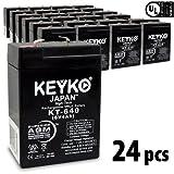 KEYKO Genuine KT-640 6V 4Ah Battery SLA Sealed Lead Acid / AGM Replacement - F1 Terminal - 24 Pack