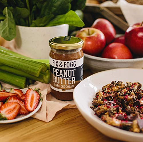Gourmet Dark Chocolate Peanut Butter from Fix & Fogg with 60% Dark Chocolate. Keto Friendly. Project Non-GMO certified. Superior Tasting Chunky Chocolate Spread. Low in Sugar (13.2 oz) 9