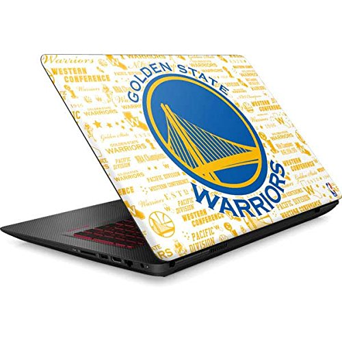 Skinit NBA Golden State Warriors Omen 15in Skin - Golden State Warriors Historic Blast Design - Ultra Thin, Lightweight Vinyl Decal Protection by Skinit