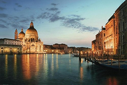 15.75 in. x 23.5 in. LED Lighted Venice City Italy at Sunset Canvas Wall Art -  NorthLight, 32036473