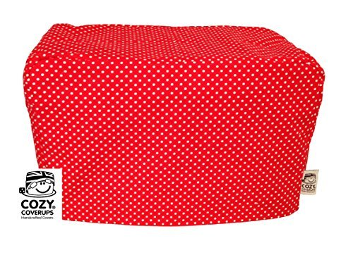 CozyCoverUp toaster cover for 2 slice toaster Red Spot 100% Cotton