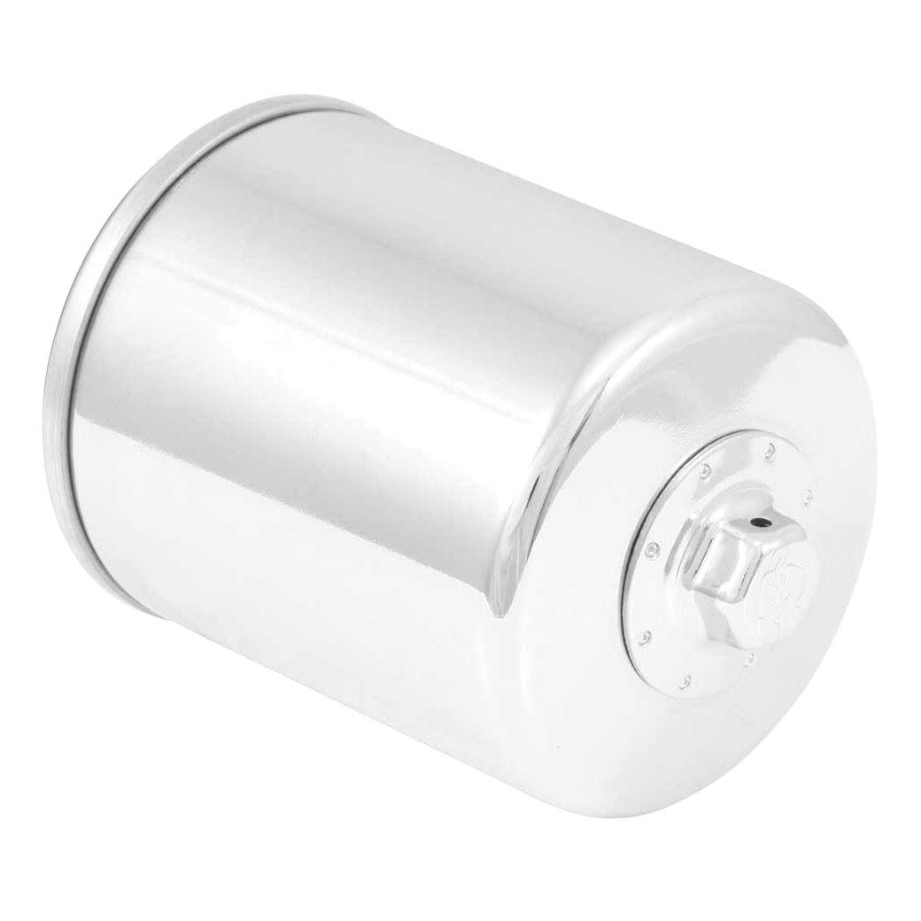 K&N Motorcycle Oil Filter: High Performance Chrome Oil Filter with 17mm nut designed to be used with synthetic or conventional oils fits 1994-2018 Harely Davidson, Buell Motorcycles KN-171C