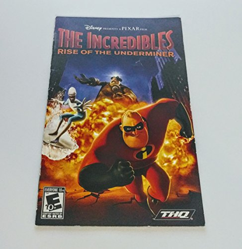 The Incredibles: Rise of the Underminer PS2 Instruction Booklet (Sony PlayStation 2 Manual ONLY - NO GAME) Pamphlet - NO GAME INCLUDED (The Incredibles Rise Of The Underminer Ps2)