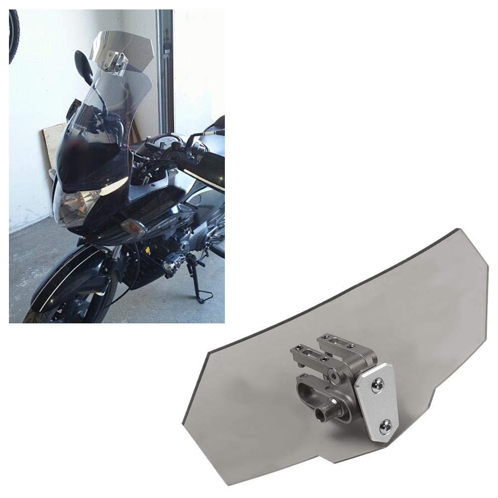 B Blesiya Airflow Adjustable Windscreen Extension Spoiler Wind Deflector for Motorbike