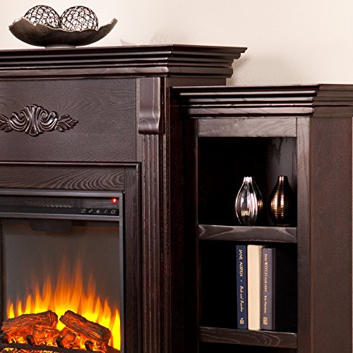 037732285450 - Tennyson Electric Fireplace w/ Bookcases - Classic Espresso carousel main 0
