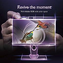 BenQ 27 inch 2K Photographer Monitor (SW2700PT), 2560x1440 QHD, 99% Adobe RGB, 100% Rec.709/sRGB color space, Hardware Calibration, 14-bit 3D LUT, HDMI 1.4,  OSD Controller