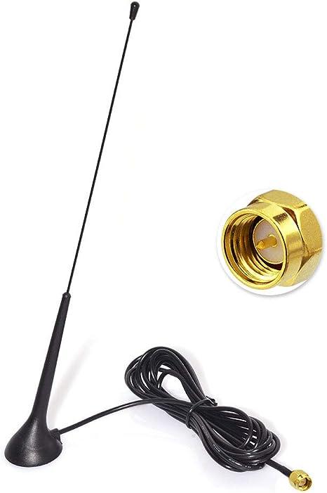 Eightwood DAB DAB mit Antenne Extension Kabel RG174 300cm f/ür Digitalradio Empfang Blaupunkt Beat TechniSat Pioneer Kenwood Alpine MEHRWEG KFZ Magnetfu/ßantenne Antenne Autoradio SMA Antenne