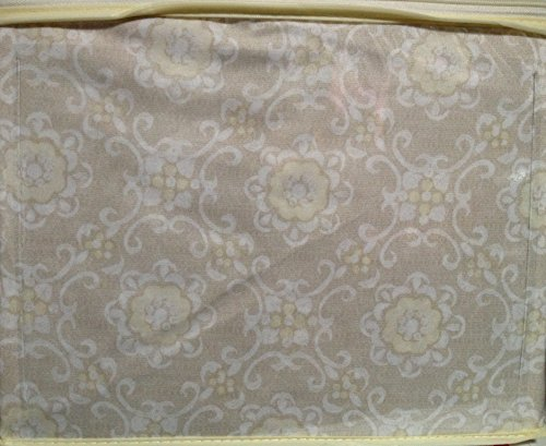 Hampton Medallion (Hampton Gardens by Raymond Waites Polyester Microfiber TWIN Sheet Set - Cream/White Medallion Floral on Light Tan)