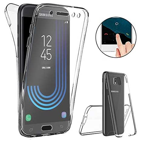 XCYYOO Funda Samsung Galaxy J5 2017 Silicona,Carcasas Samsung Galaxy J5 2017, [Carcasa Protectora 360 Grados Full Body]e Suave Ultrafina Gel Silicona ...
