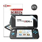 New Nintendo 2DS XL Screen Protector [3 Packs] - Younik 0.125mm/4H Ultra Clear HD Screen Film for Nintendo New 2DS XL 2017 (Anti-Scratch / High Response / Bubble Free)