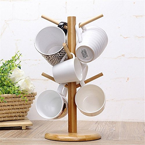 Strong Wood Mug Rack Holder Tree Coffee Cup Storage Stand Kitchen Organization by Agordo (Image #3)