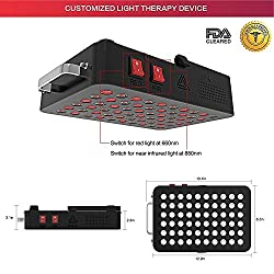 Red Light Therapy Device, 660/850nm FDA Cleared Near Infrared Led Light Therapy, Clinical Grade Home Use Light Therapy Lamp with Timer for Anti-Aging, Pain Relief, Muscle Recovery, Inflammation