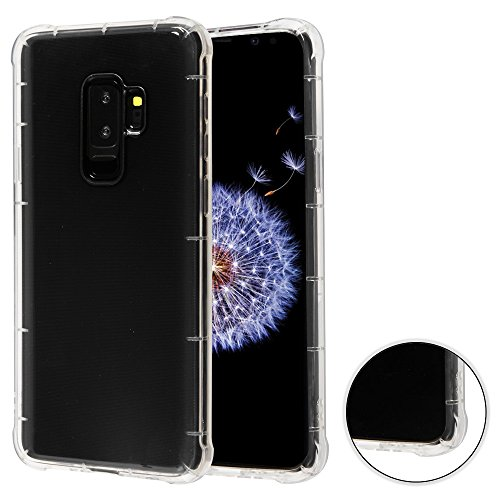 Faceplate Cover Candy - Fits Samsung Galaxy S9 Plus G9640 MYBAT Transparent Clear Corner Guard Candy Skin Cover Faceplate