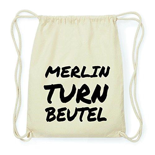 JOllify MERLIN Hipster Turnbeutel Tasche Rucksack aus Baumwolle - Farbe: natur Design: Turnbeutel