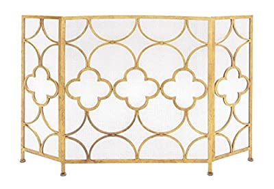 Deco 79 Metal Fireplace Screen, 50 by 35-Inch