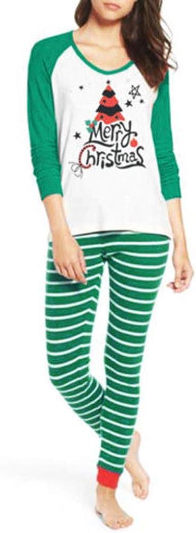 cinnamou Pijamas De Navidad para Damas, Ropa De Dormir Top ...