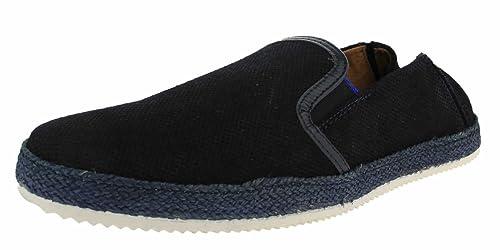 Coxx Mocasines de Piel Para Hombre Azul Azul Marino: Amazon.es: Zapatos y complementos