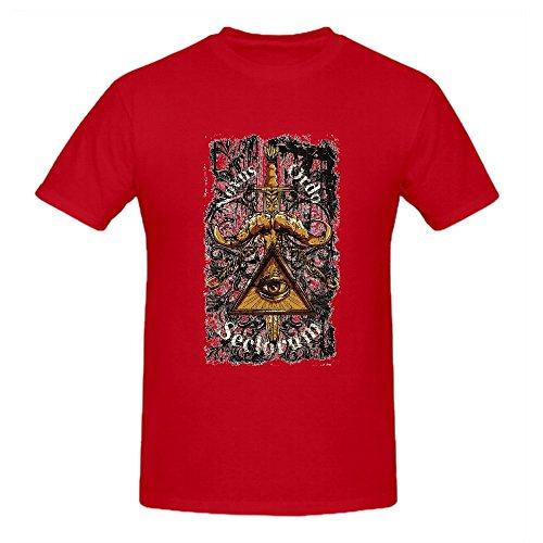 100% Cotton Red Mens Summer Fashion DIY Tops Tees Short Sleeve T Shirt Man Punk Style O Neck Casual T Shirt