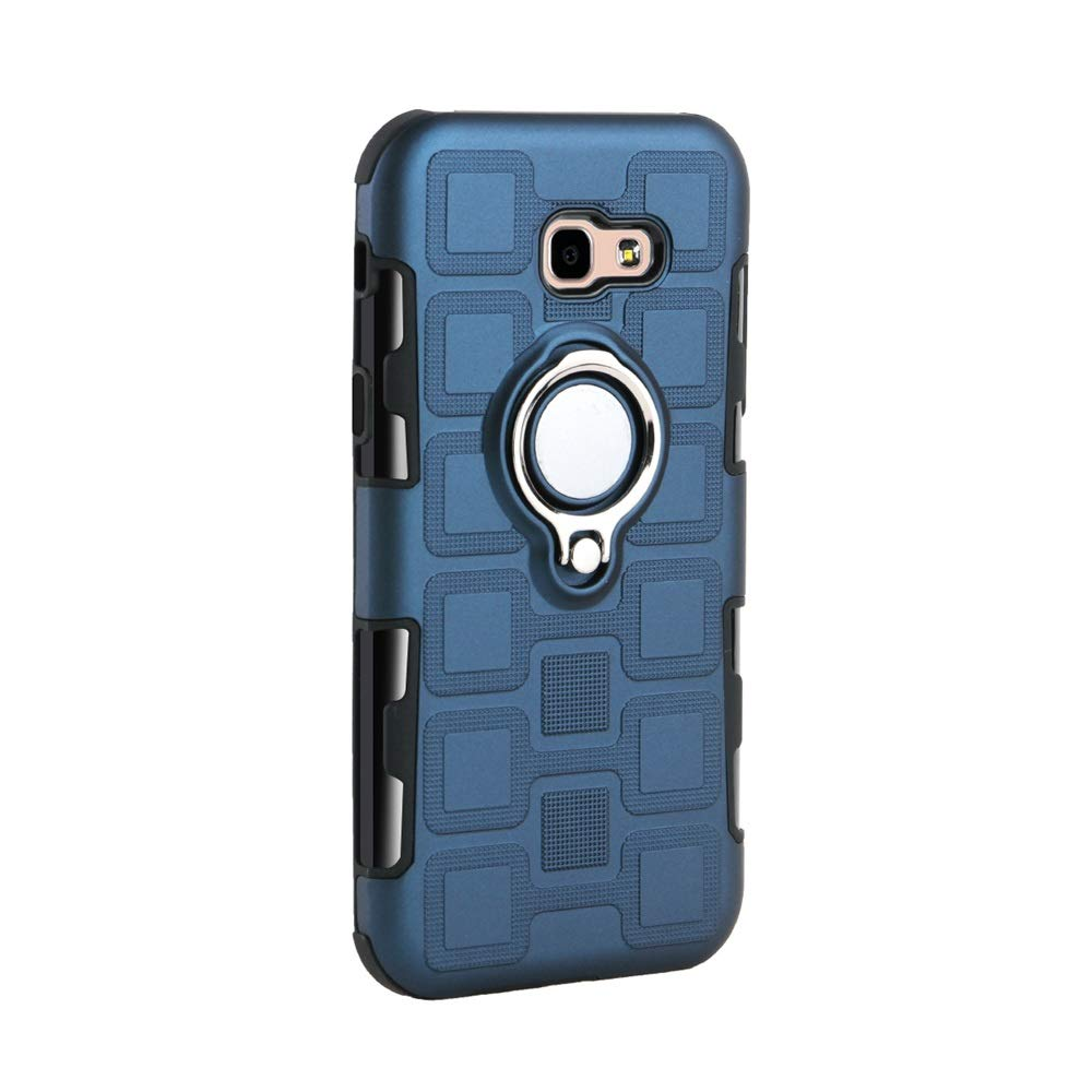 Galaxy A5 2017 Case with HD Screen Protector Sky Blue I VIKKLY Dual Layer Shockproof Case with 360 Degree Rotating Ring Kickstand Fit Magnetic Car Mount for Samsung Galaxy A5 2017