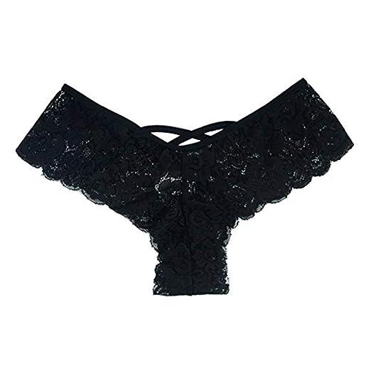 ed1618df5e2a Zaidern Women Panties Plus Size Sexy Women Lace Flowers Low Waist Underwear  Panty G-String